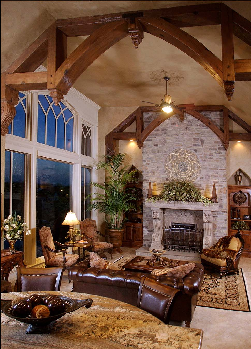 European, French Country, Tuscan House Plan 75492 with 4 Beds, 4 Baths, 3 Car Garage Picture 6