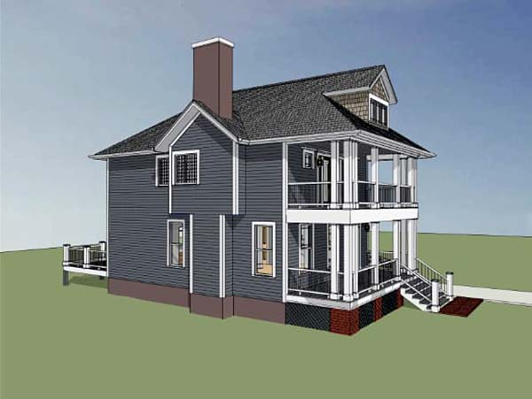 Colonial, Southern House Plan 75501 with 3 Beds, 3 Baths Picture 2