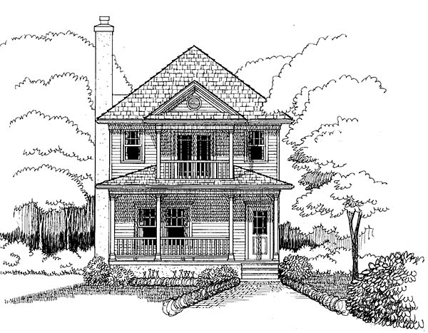 Colonial, Southern House Plan 75503 with 3 Beds, 3 Baths Picture 2