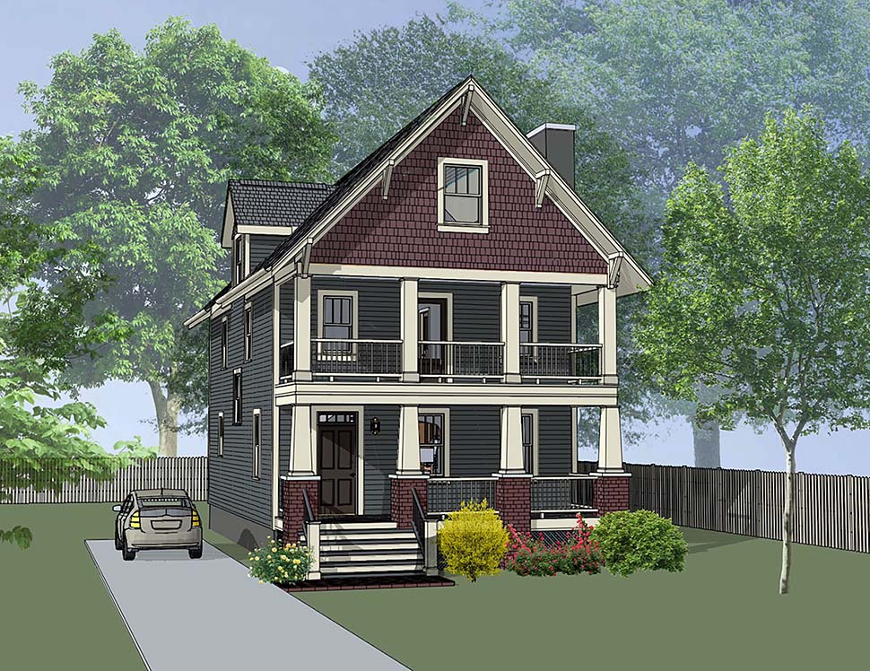 Bungalow, Craftsman House Plan 75506 with 3 Beds, 3 Baths Front Elevation