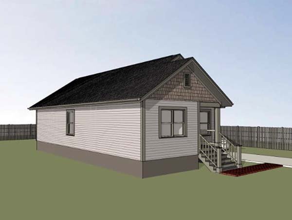 Bungalow House Plan 75522 with 3 Beds, 2 Baths Picture 1