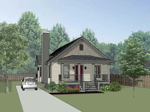 Bungalow House Plan 75524 with 2 Beds, 2 Baths Elevation