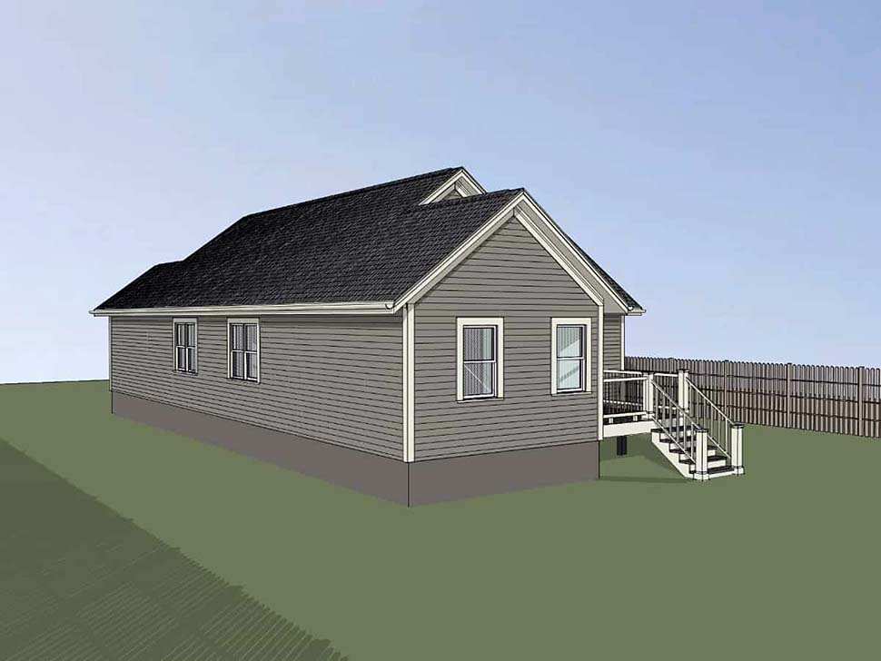 Bungalow, Cottage House Plan 75529 with 4 Beds, 2 Baths, 1 Car Garage Picture 1