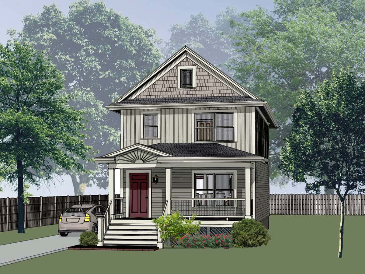 Colonial, Country House Plan 75531 with 3 Beds, 3 Baths Front Elevation