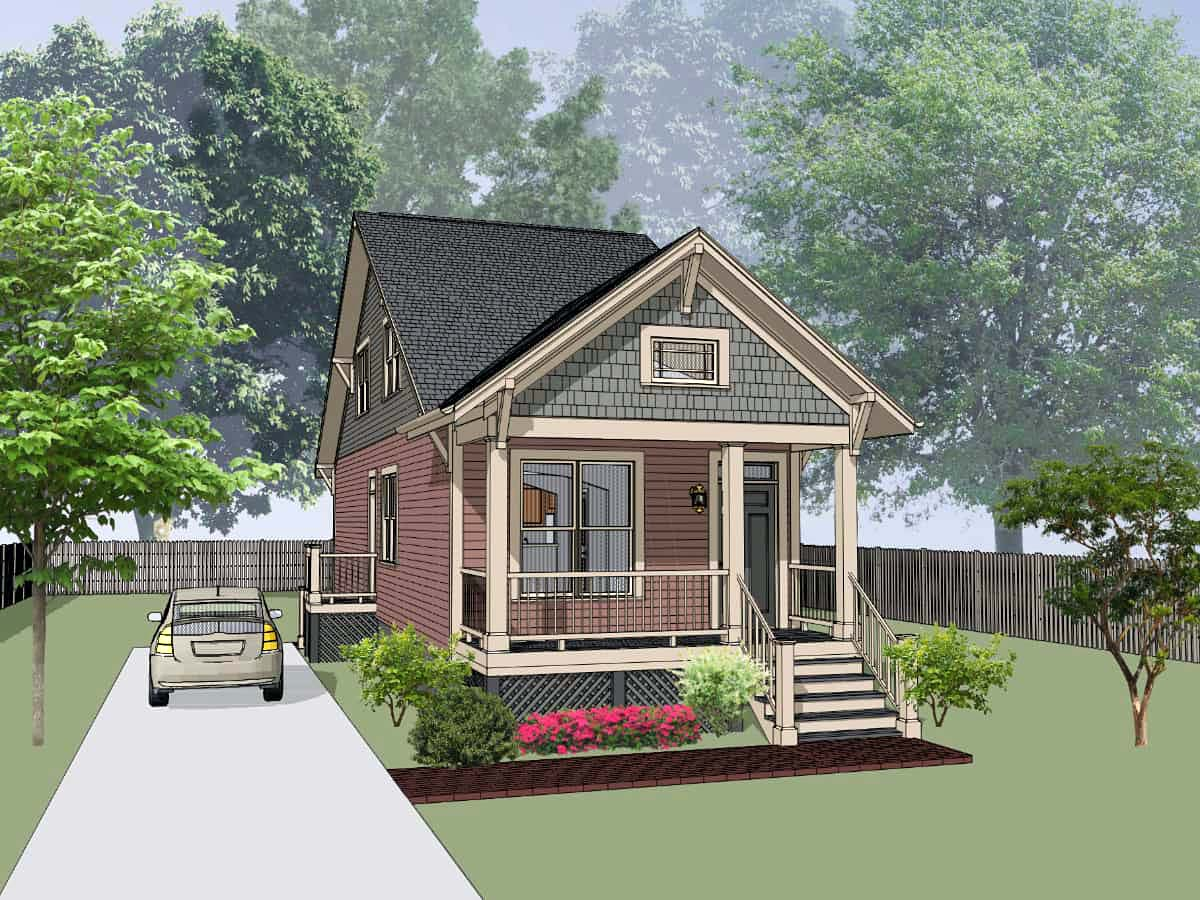 Cottage, Country House Plan 75533 with 3 Beds, 2 Baths Front Elevation