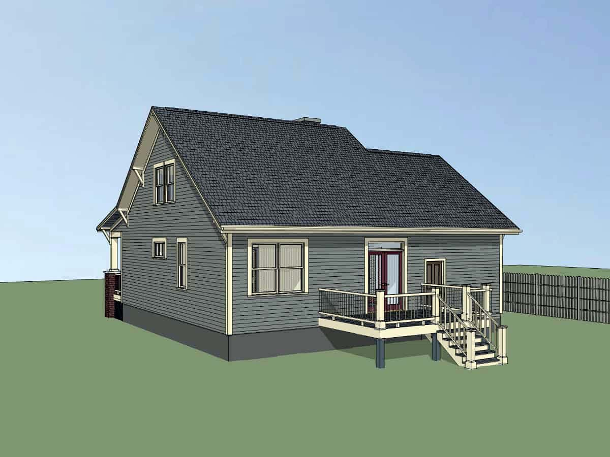 Bungalow, Craftsman House Plan 75535 with 3 Beds, 2 Baths, 1 Car Garage Picture 1