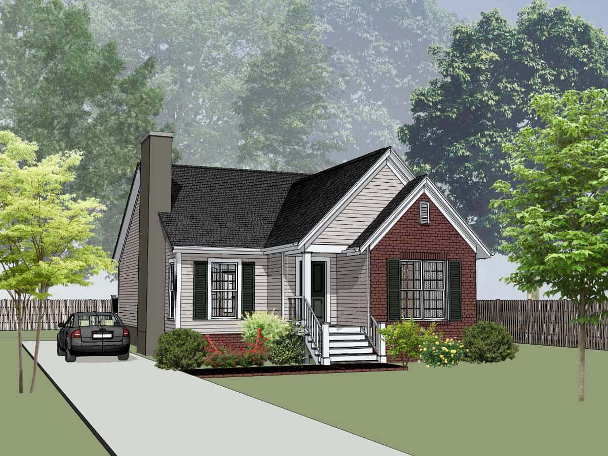 Bungalow, Cottage House Plan 75538 with 3 Beds, 2 Baths Front Elevation