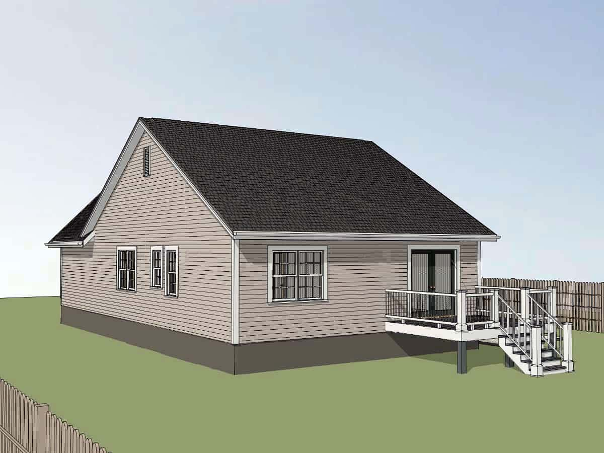 Bungalow, Cottage House Plan 75538 with 3 Beds, 2 Baths Picture 1
