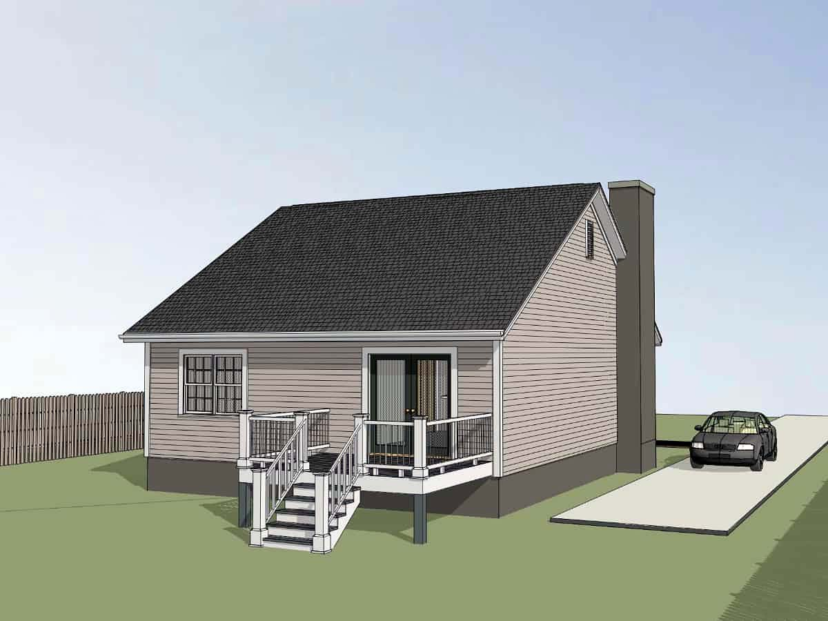 Bungalow, Cottage House Plan 75538 with 3 Beds, 2 Baths Picture 2