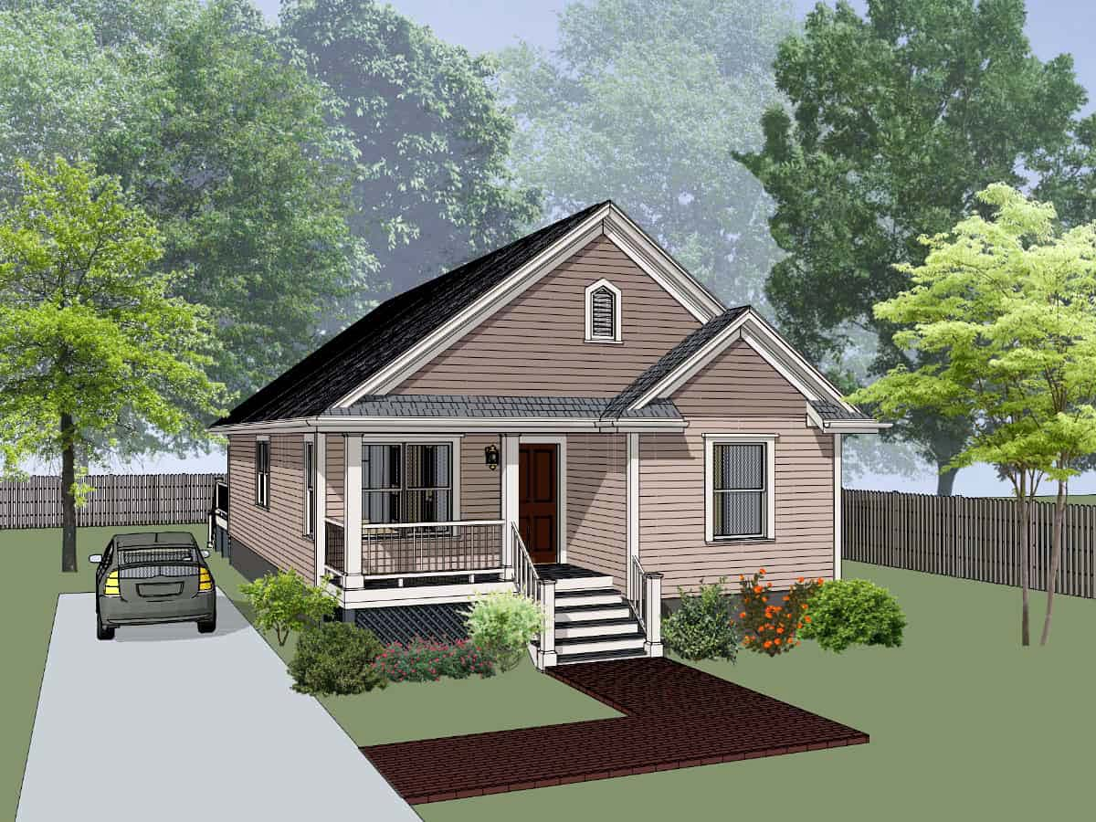 Bungalow, Cottage House Plan 75543 with 4 Beds, 2 Baths Front Elevation