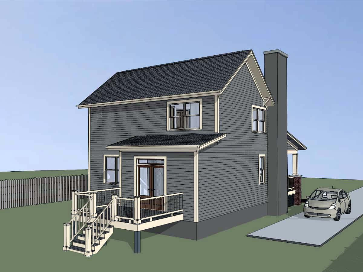 Bungalow, Cottage House Plan 75556 with 4 Beds, 2 Baths Picture 2