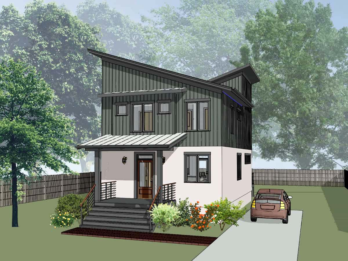 Contemporary, Cottage, Modern House Plan 75566 with 3 Beds, 3 Baths Elevation