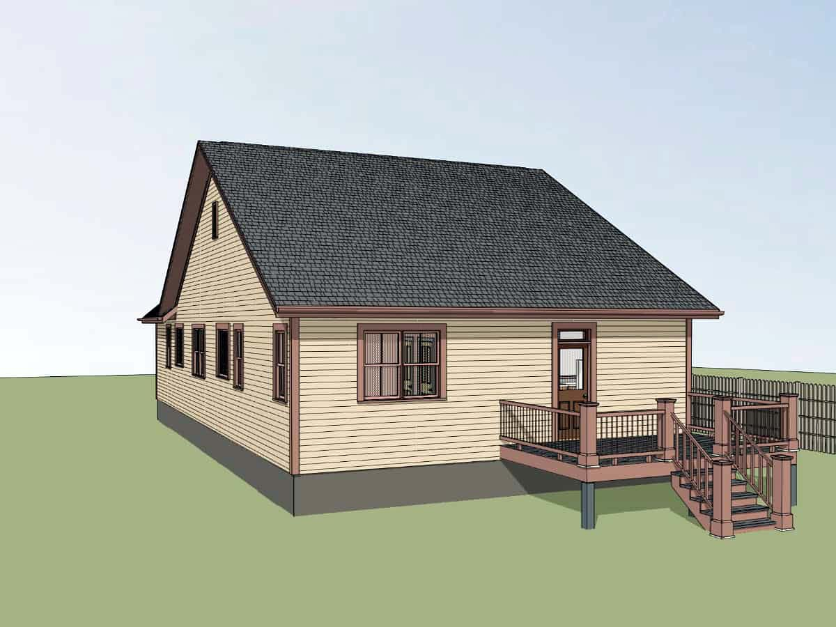 Bungalow, Cottage House Plan 75573 with 3 Beds, 2 Baths Picture 1