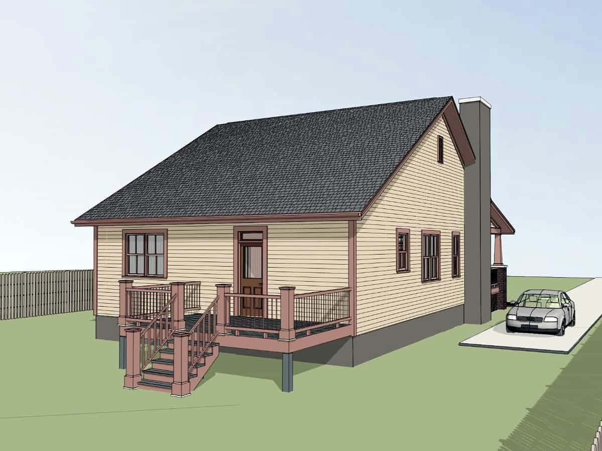 Bungalow, Cottage House Plan 75573 with 3 Beds, 2 Baths Picture 2