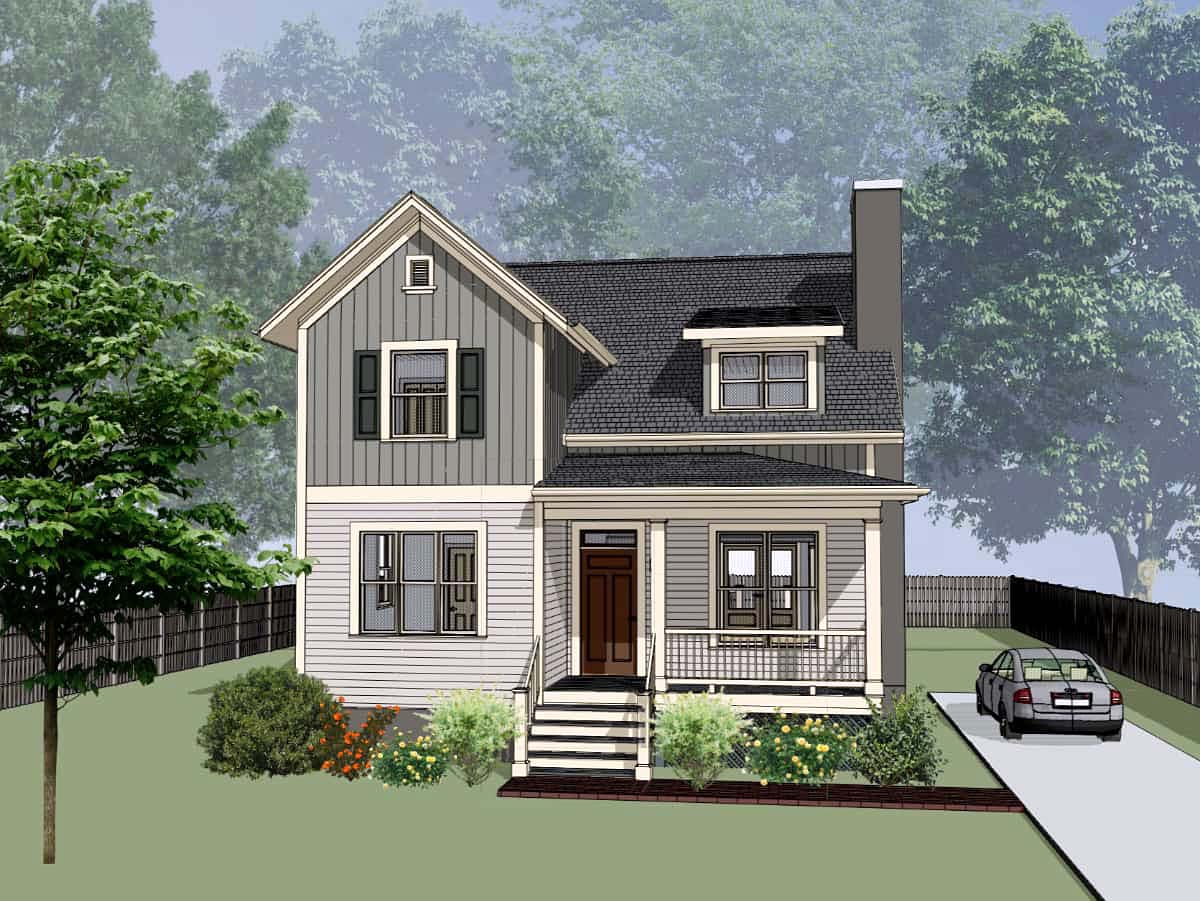 Bungalow, Colonial, Cottage, Traditional House Plan 75574 with 4 Beds, 3 Baths Elevation