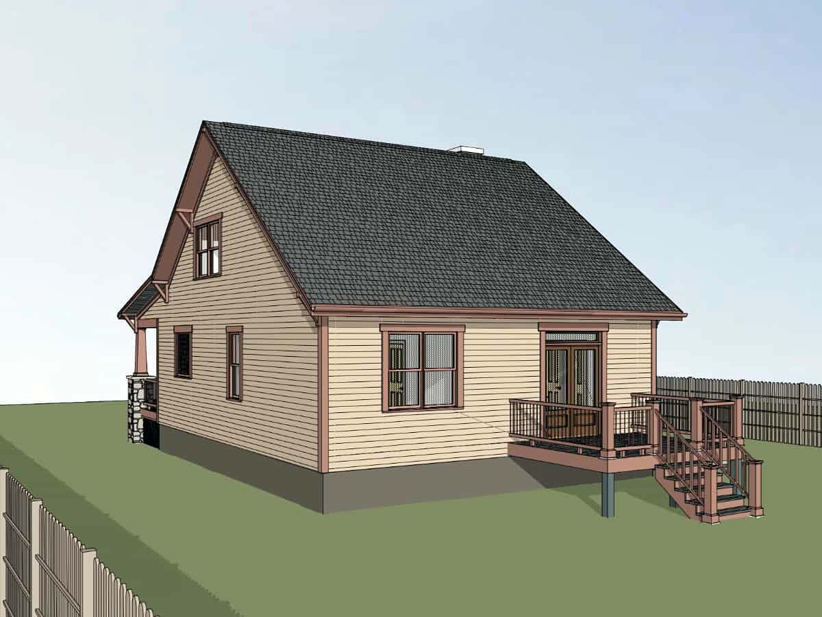 Bungalow, Cottage, Craftsman House Plan 75576 with 3 Beds, 3 Baths Picture 1