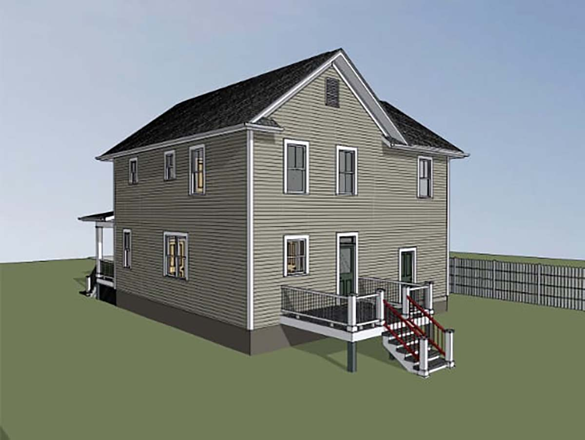 Colonial, Country, Narrow Lot, Southern House Plan 75579 with 4 Beds, 3 Baths, 1 Car Garage Picture 1