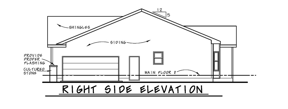 Traditional House Plan 75728 with 2 Beds, 3 Baths, 2 Car Garage Picture 1