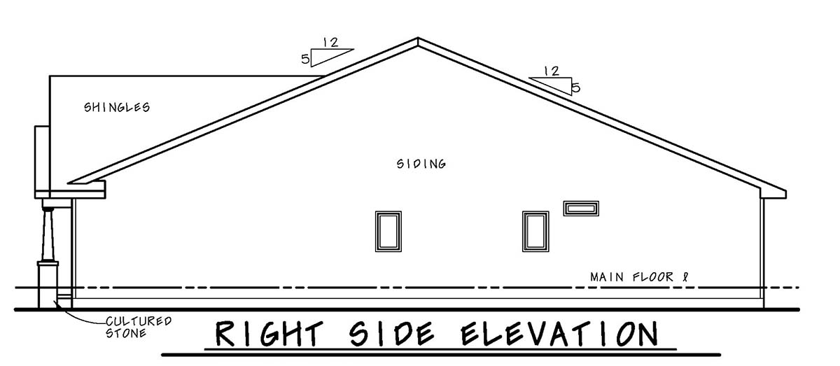 Craftsman, Tudor House Plan 75733 with 2 Beds, 2 Baths, 2 Car Garage Picture 1