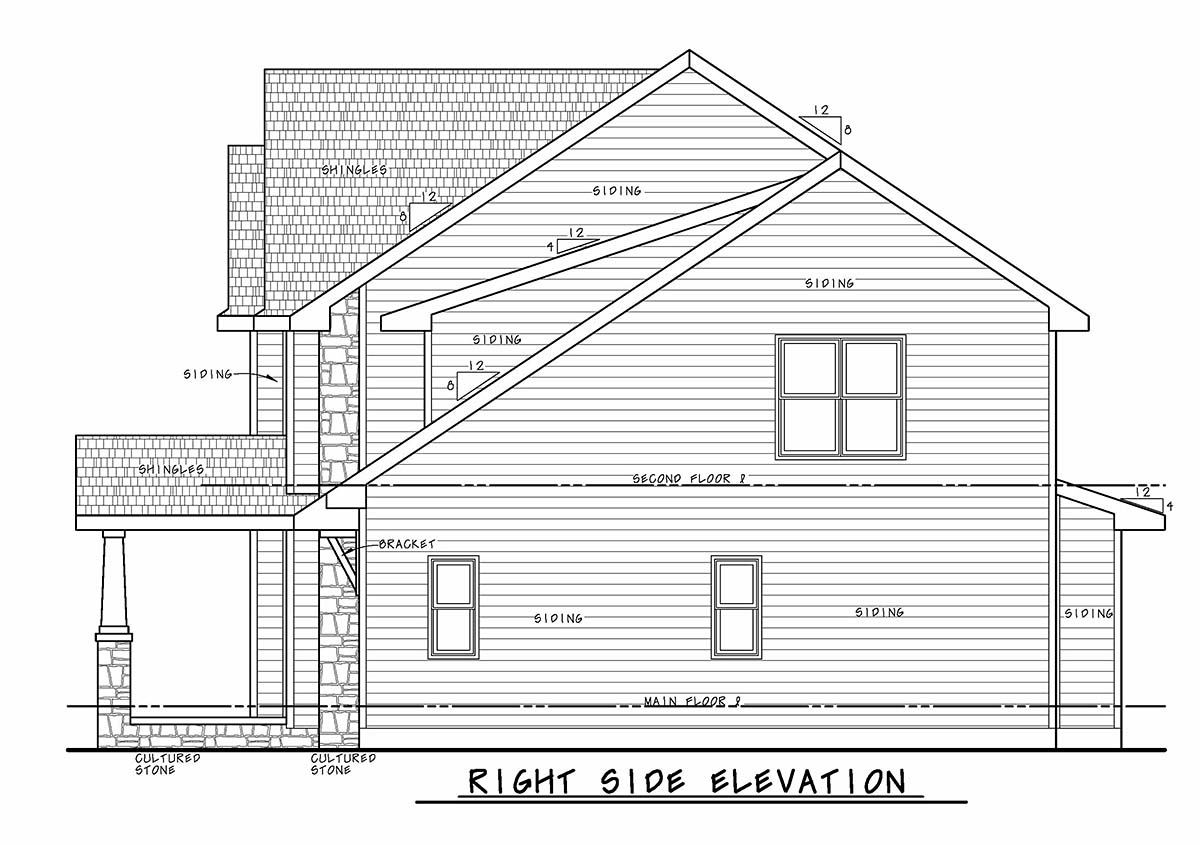 Craftsman House Plan 75735 with 3 Beds, 3 Baths, 2 Car Garage Picture 1