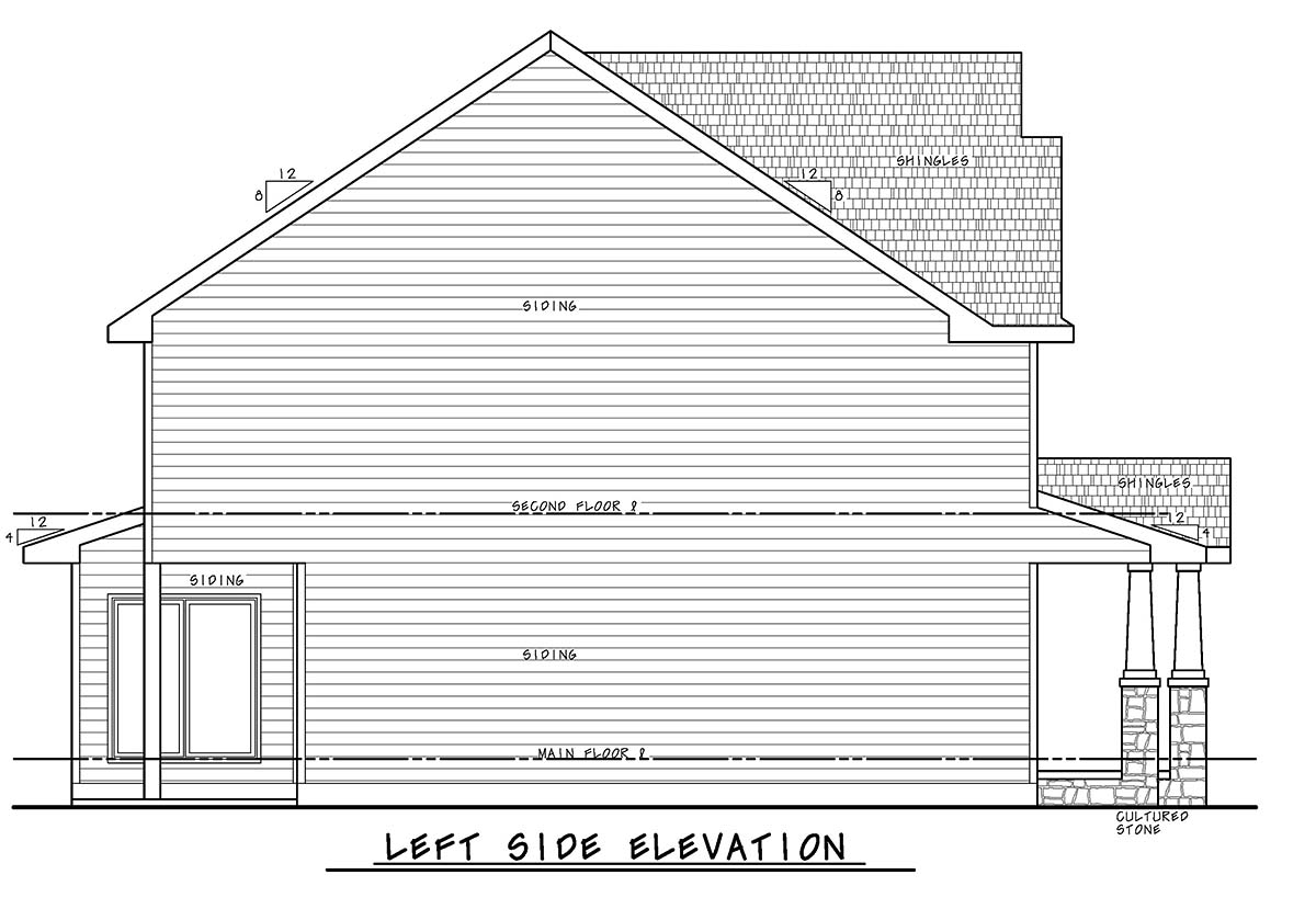 Craftsman House Plan 75735 with 3 Beds, 3 Baths, 2 Car Garage Picture 2