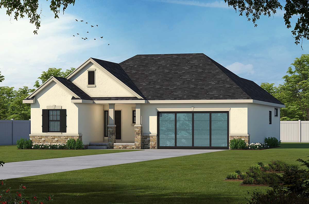 Mediterranean House Plan 75746 with 3 Beds, 3 Baths, 2 Car Garage Elevation