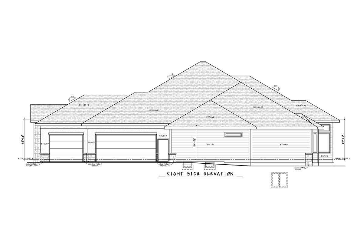 Traditional House Plan 75755 with 2 Beds, 4 Baths, 3 Car Garage Picture 1