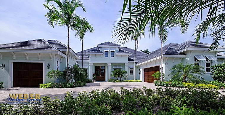 Florida, Mediterranean House Plan 75926 with 4 Beds, 5 Baths, 3 Car Garage Elevation