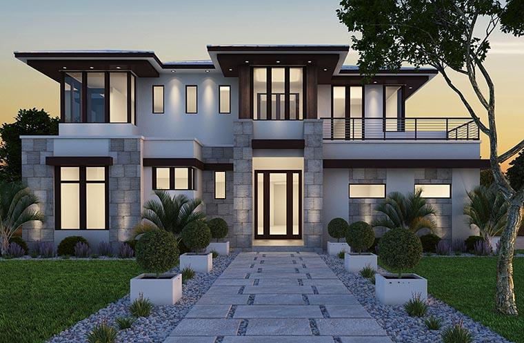 Coastal, Florida, Mediterranean, Modern, Prairie House Plan 75973 with 4 Beds, 6 Baths, 3 Car Garage Picture 15