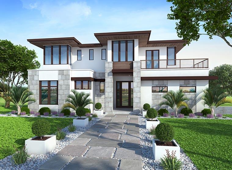 Coastal, Florida, Mediterranean, Modern, Prairie House Plan 75973 with 4 Beds, 6 Baths, 3 Car Garage Picture 16