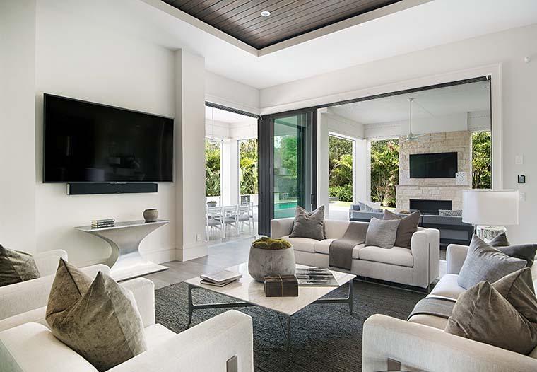 Coastal, Florida, Mediterranean, Modern, Prairie House Plan 75973 with 4 Beds, 6 Baths, 3 Car Garage Picture 2