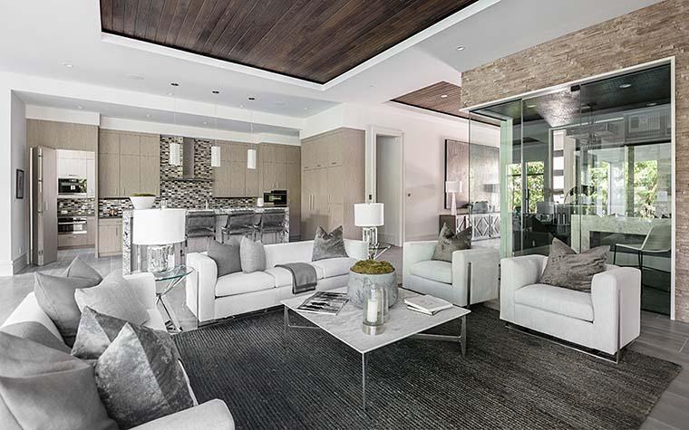 Coastal, Florida, Mediterranean, Modern, Prairie House Plan 75973 with 4 Beds, 6 Baths, 3 Car Garage Picture 3