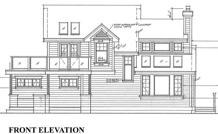 Cabin, Contemporary House Plan 76000 with 3 Beds, 2 Baths Picture 5