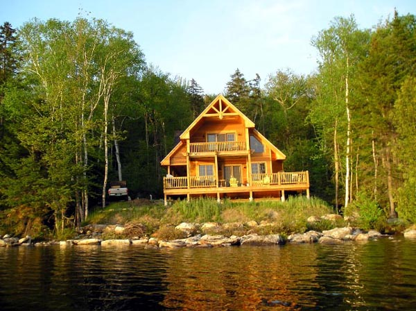 Cabin, Contemporary House Plan 76012 with 3 Beds, 2 Baths Picture 4