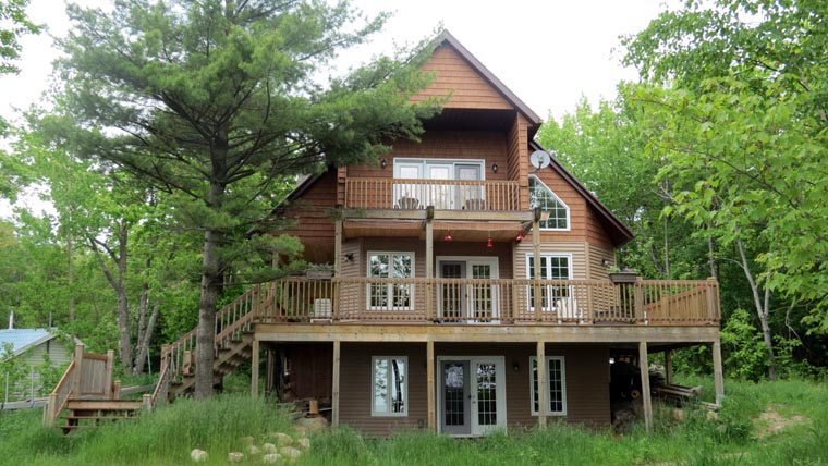 Cabin, Cottage House Plan 76031 with 3 Beds, 2 Baths Front Elevation