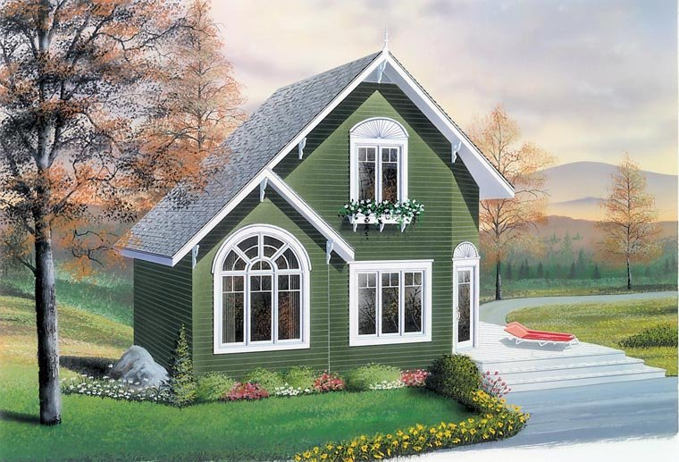 Country House Plan 76168 with 2 Beds, 2 Baths Front Elevation