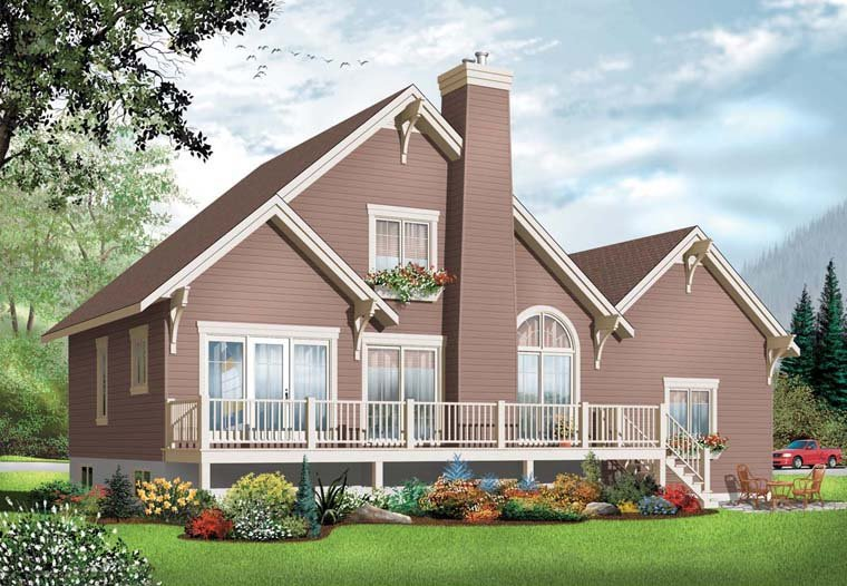 Coastal, Country House Plan 76238 with 3 Beds, 2 Baths, 1 Car Garage Elevation