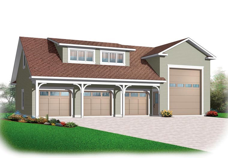 Traditional 3 Car Garage Plan 76278, RV Storage Front Elevation