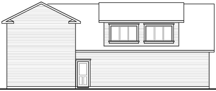 Traditional 3 Car Garage Plan 76278, RV Storage Rear Elevation