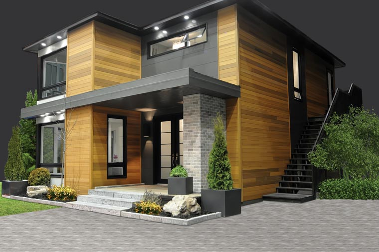Contemporary, Modern House Plan 76317 with 3 Beds, 2 Baths Picture 4