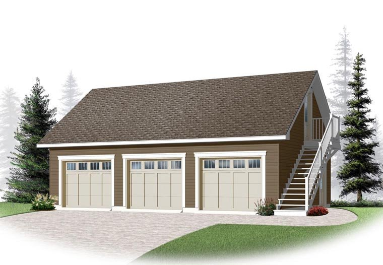 3 Car Garage Apartment Plan 76375 Elevation
