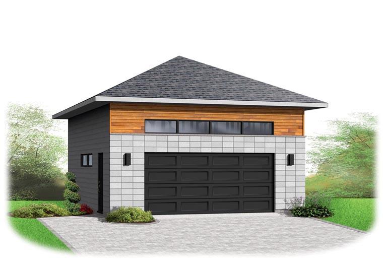 Contemporary 2 Car Garage Plan 76377 Front Elevation