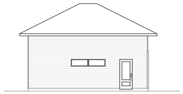 Contemporary 2 Car Garage Plan 76377 Rear Elevation