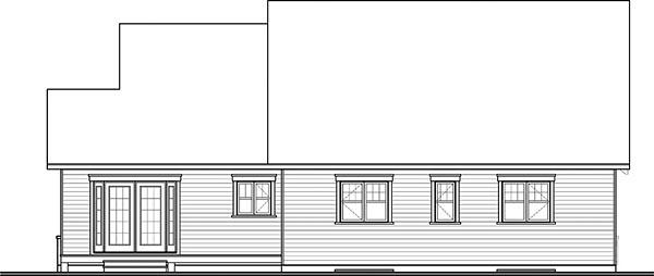 Craftsman, Traditional, Tudor House Plan 76433 with 3 Beds, 3 Baths, 2 Car Garage Rear Elevation