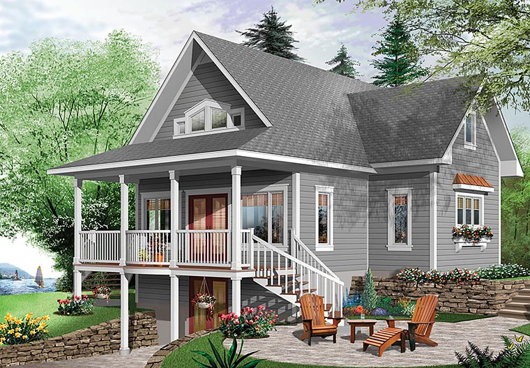 Bungalow, Cottage, Country, Traditional House Plan 76453 with 4 Beds, 3 Baths Front Elevation
