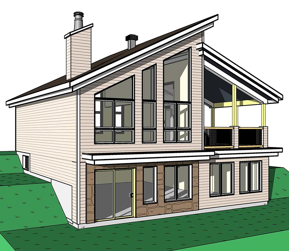 Contemporary, Cottage, Modern House Plan 76526 with 3 Beds, 2 Baths Picture 2