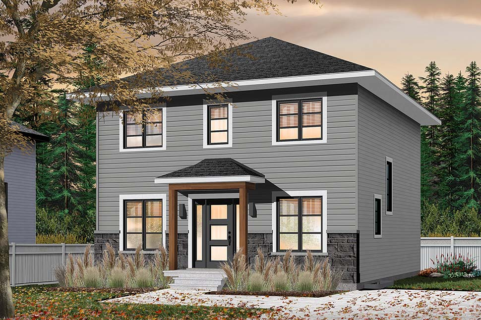 Colonial, Traditional House Plan 76538 with 4 Beds, 2 Baths Picture 1