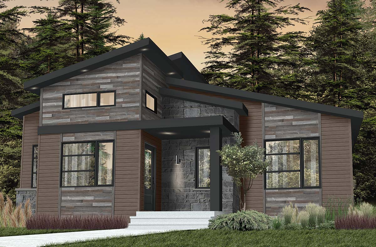 Contemporary, Country, Craftsman, Modern House Plan 76549 with 2 Beds, 1 Baths Picture 1