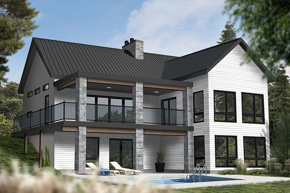 Coastal, Cottage, Farmhouse House Plan 76566 with 3 Beds, 3 Baths Picture 2