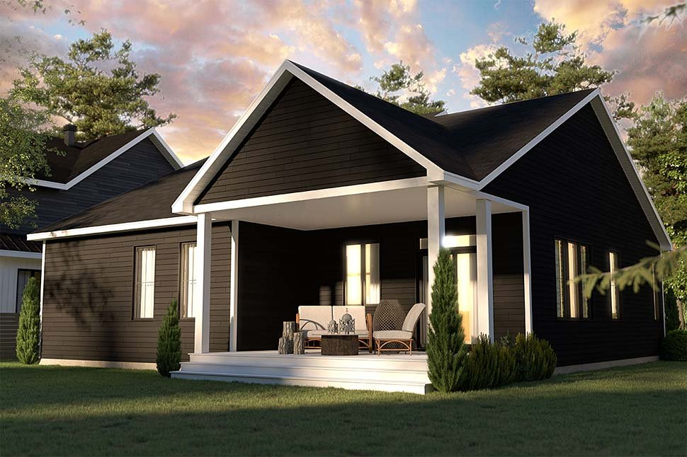 Bungalow, Country, Craftsman, Farmhouse, Ranch House Plan 76568 with 2 Beds, 2 Baths, 1 Car Garage Picture 4